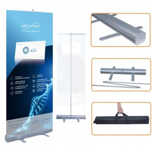 """X39"" Lifewave RollUp Display mit Personalisierung"